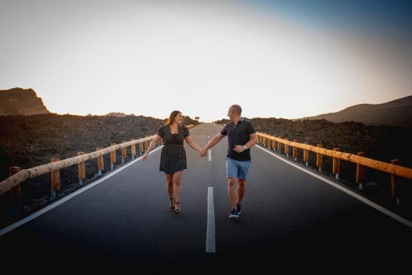 Fotografía de pareja romántica en Tenerife